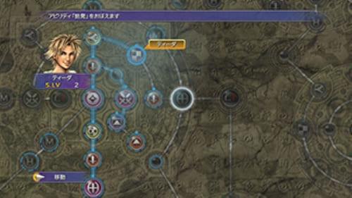 FF10ではスフィア盤という「すごろく」みたいなものを使用してキャラクターを成長させるシステム