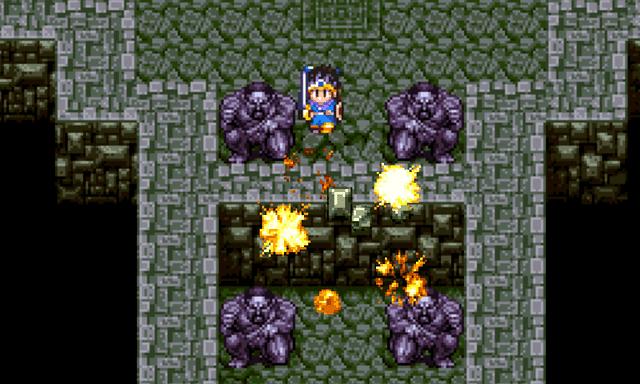 「魔法の玉」でいざないの洞窟の入り口を破壊