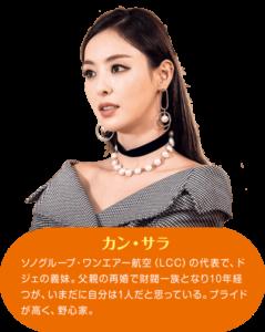 カン・サラ役のイ・ダヒ